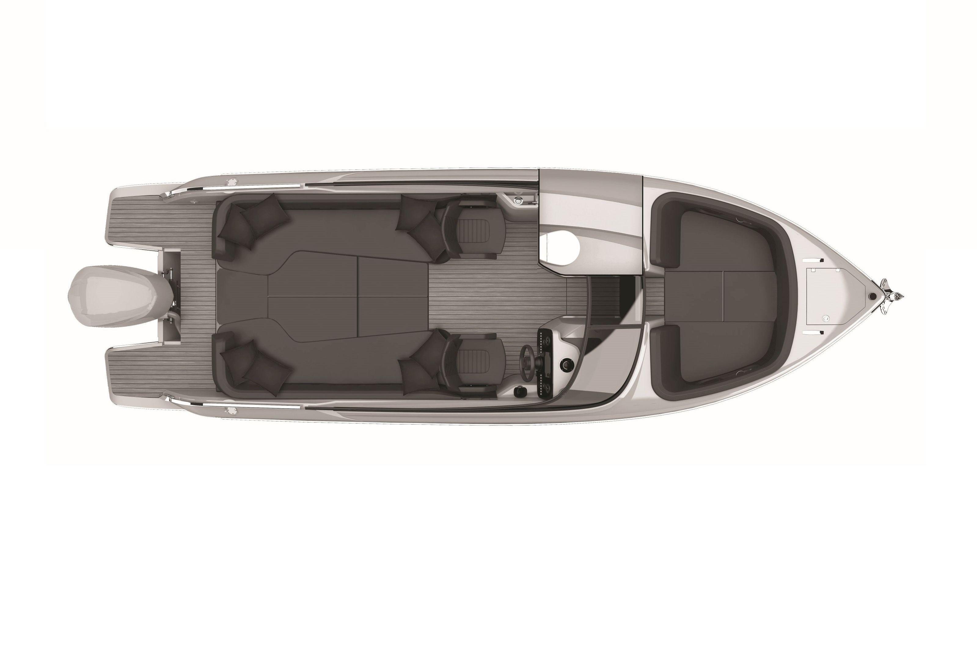 Cranchi - E26 Rider - Lower deck view - prendisole