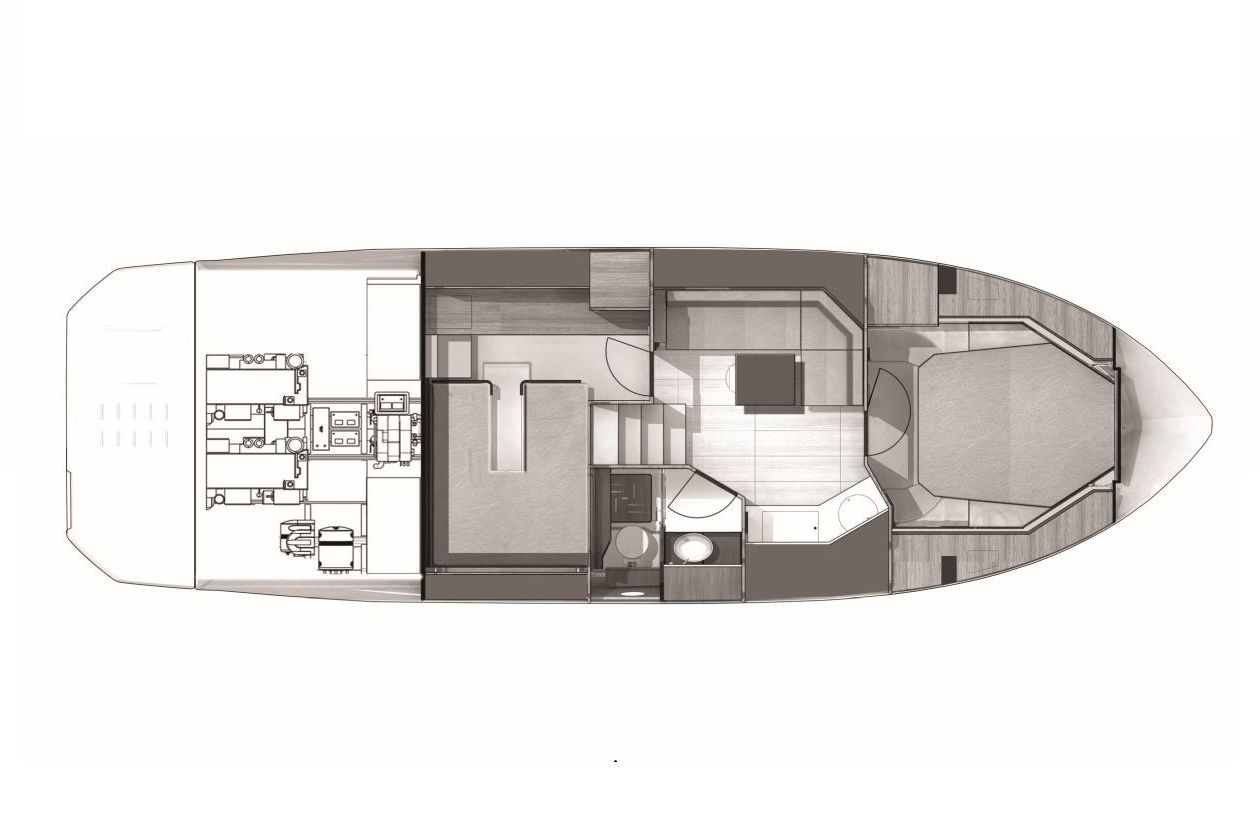 Cranchi Z35 LOWER DECK